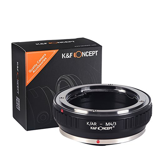 Adaptador K/AR-M4/3, K&F Concept Adaptador Konica para Montar a la Cámara Micro...