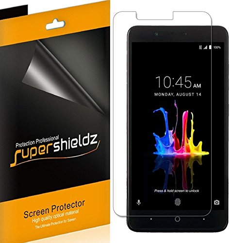 (6 Pack) Supershieldz for ZTE (Blade Z Max) Screen Protector, High Definition Clear Shield (PET)