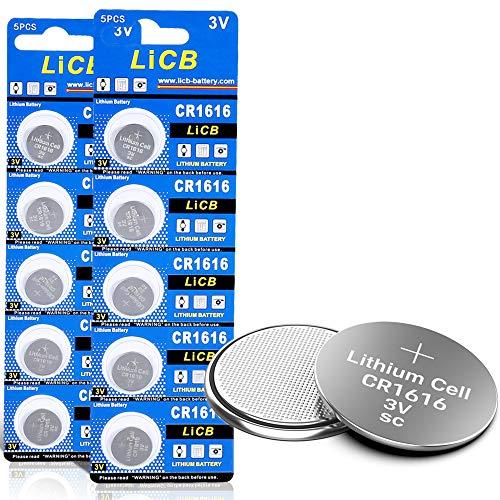 LiCB 10 Pack CR1616 3V Lithium Battery CR 1616