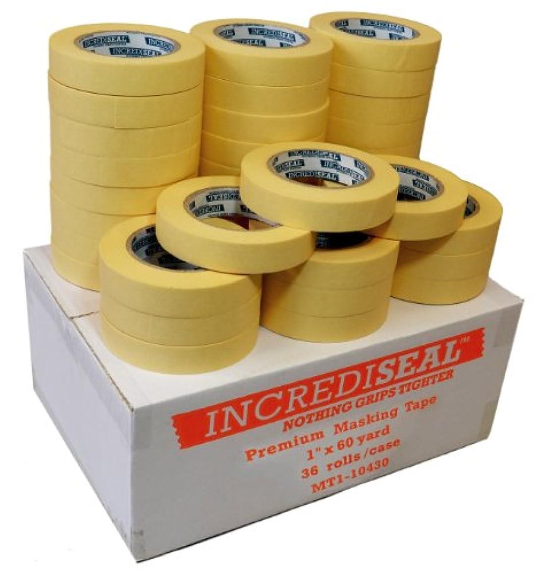 INCREDISEAL 36 Rolls High Tack Tape, 1 Inch x 60 Yards x 4.3 Mil - Crepe / Natural