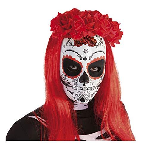 Rubies- Diadema Katrina con rosas Da de los Muertos, Color rojo, Talla nica (Rubie's Spain S4351)