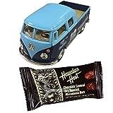 フォルクスワーゲンバスダブルキャブミニカー×チョコバーセット/バレンタインギフト ハワイアンホースト 1963 VW Bus Double Cab Pickup 1/34 ブルー