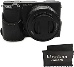 kinokoo Bottom Case for SONY A6400 A6100 Protective Cover Hand Grip Case  Sony Alpha 6100 ILCE-6100 Case  black