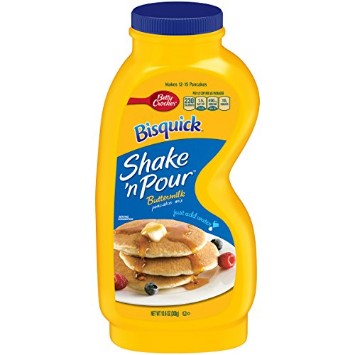 Betty Crocker Bisquick Baking Mix, Shake 'n Pour Pancake Mix, Buttermilk, 10.6 Oz Bottle (Pack of 8)