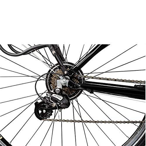Galano Tandem Fahrrad 700c Berlin 28 Zoll Trekkingrad 21 Gang Shimano Touring (schwarz, 51/46 cm) - 4