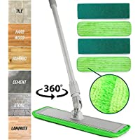 Turbo Microfiber Mop Floor Cleaning System with Soft Refill Pads & Handle