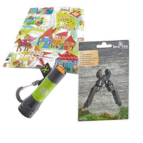 Haba Terra Kids Mini Taschenlampe mit Multitool Kinder Geschenkset