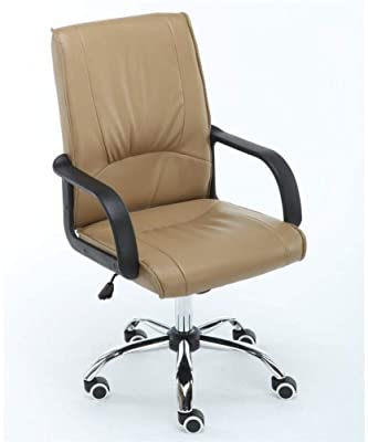 Amazon Com Sh Chen Office Chair Office Chair Ergonomic Lifting Home Computer Chair Moveable Adjustable Staff Conference Meeting Chair Sedie Ufficio Color Khaki Video Game Chairs Furniture Kitchen Dining