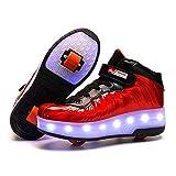 AIkuass Wheel Shoes for Boys Girls Adult Roller Sneakers Flexible Skates As Gift
