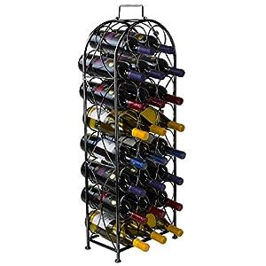 Sorbus Wine Rack Bordeaux Chateau Style – Holds 23 Bottles –...
