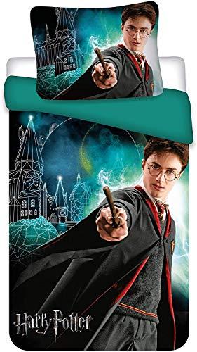 """Harry Potter, set di biancheria da letto con scritta """"Glow in The Dark"""