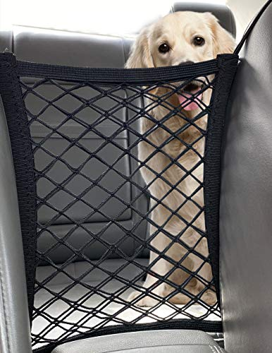 ROPECUBE Pet Dog Car Net Barrier, Stretchable Mesh Obstacle, Back Seat Net Organizer, Design for Pet...