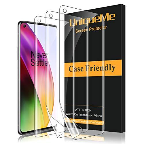UniqueMe [3 Stück] schutzfolie für Oneplus 8 Folie, Oneplus 8 [Flexible Folie] Soft HD TPU Klar Displayschutz Displayschutzfolie