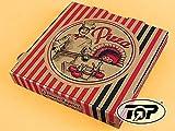 TOP Marques Collectibles 100 Pizzakartons Pizzaboxen braun NYC New York 4,2cm hoch Pizzabäcker Verschiedene Größen zur Auswahl (30x30x4.2cm) - Inkl. VerpG in D