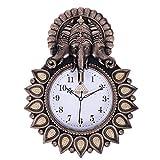 Luster 3Art_Shree Ganesha Designer & Decoration Wall Clock for Home & Gift Purpose (Size-38 cm X 31 cm# Color-Golden, Brown)