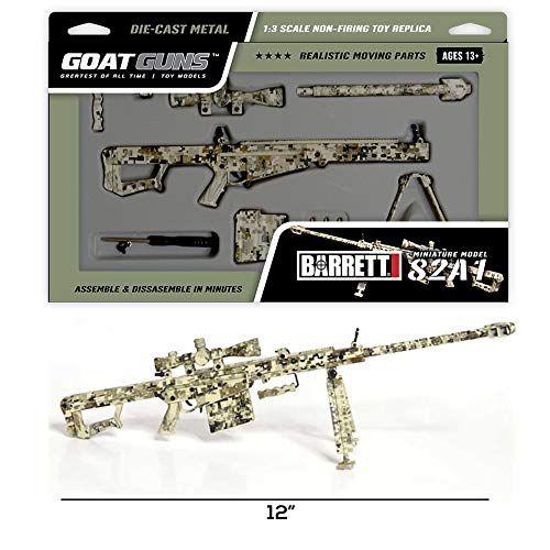 Goatguns Miniature Digital Camouflage .50 Cal Barrett 82A1 Toy Model   1/3 Scale