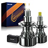 PULILANG H7 LED Headlight Bulbs, 60W 16000lm, 360 Degree Full Emitting Super Bright LED Headlight Conversion Kit, 6000K Xenon White, Recommend For Projector Headlight