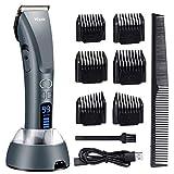 Haarschneidemaschine Hizek Bartschneider, Haarschneider mit Länge und Geschwindigkeit Einstellung,...