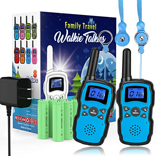 Wishouse 2 Rechargeable Walkie Talkies for Kids with Charger Battery, Two Way Radio Family Talkabout...