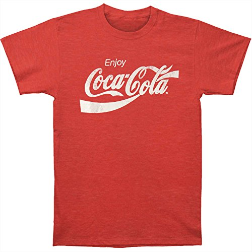 Coca-Cola Camiseta de manga corta para hombre Eighties Coke - rojo - Large