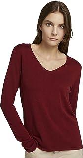TOM TAILOR Damen Basic V-Neck Pullover