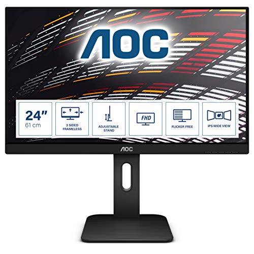 AOC X24P1 - 24 Zoll WUXGA Monitor, höhenverstelllbar (1920x1200, 60 Hz, VGA,...