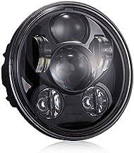 Argento LiTai 5-3//4 5.75inch Motociclo Faro 45W Hi//Lo Beam Round LED Faro
