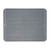 ZLR Silicone Dish Drying Mat Easy Clean Dishwasher Safe Heat...