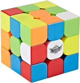 HJXDJP 56mm 3x3x3スピードキューブ 競技專用マジックキューブ 滑らかな回転 調整可能な立体パズルキューブ