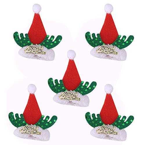 Goneryisour - Set di 5 protezioni per bottiglie di vino, decorazione per tavolo da bar, colore: verde/rosso/bianco/giallo