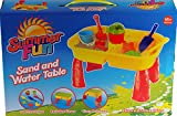 Summer Play Sand And Water Table With 8 Accessories - Toddlers Activity Toy