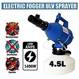 4.5L Pulverizador Eléctrico ULV Máquina de Nebulización,Frío Pulverizador Electric ULV Fogger Sprayer Atomizador Portátil para el Hospital de la Empresa Granja Escuela de Hostelería