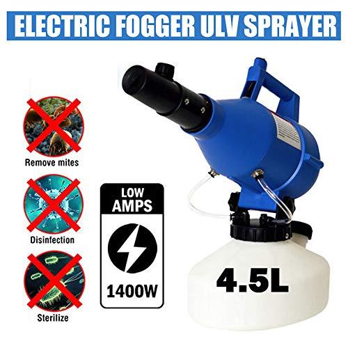 GMtes 2020 4.5L ULV Elektrische Sprühgerät ULV Fogger Sprayer Tragbare, 1200W Kaltnebelgerät Drucksprühgerät für Indoor Outdoor öffentliche Plätze Desinfektion - Durchfluss einstellbar