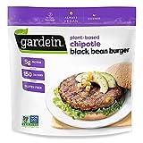 Gardein Gluten-Free Plant-Based Chipotle Black Bean Burger, Vegan, Frozen, 12 oz. 4-Count