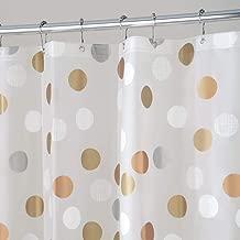 mDesign Cortina de baño antimoho y Libre de PVC – Cortina Ducha con 12 Ojales de Metal – Cortina bañera Impermeable – Gris/Crema