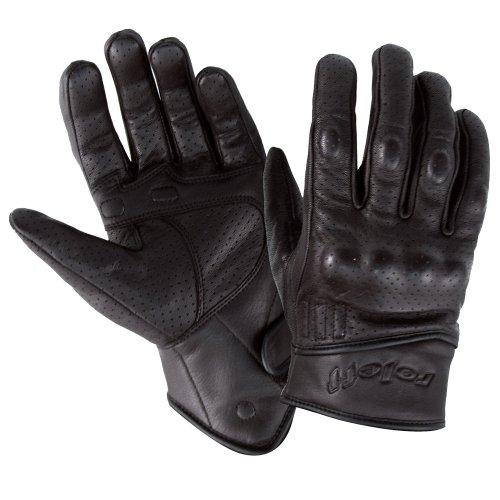 Roleff Racewear Gants en Cuir, Noir, S