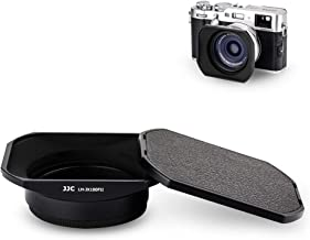 Camera Lens Hood JJC Lens Shade Set for Fuji Fujifilm X100F X100T X100S X100 X 70 Replaces Fujifilm LH-X100 AR-X100 Hood with a Hood Cap & Adapter Ring -Black