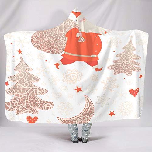 RQPPY Christmas Flower Decke Comfort Microfaser Plush Polyester Vlies Decke White 150x200cm