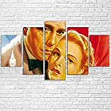 YFTNIPL Bilder 5 Teilig Leinwand Art Bilder Casablanca