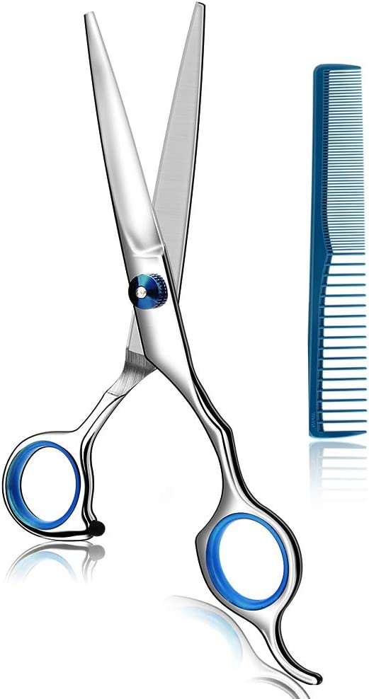 Coolala Stainless Steel Hair Cutting Scissors 6.5 Inch Hairdressing Razor Shears Professional Salon Barber Haircut Scissors