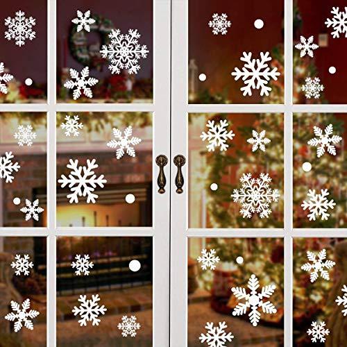 heekpek 216 Teile Zusammen Schneeflocke Nr.1 Weihnachten Fenster Dekoratives Bild Weihnachtsaufkleber Abnehmbar Und Wiederverwendbar