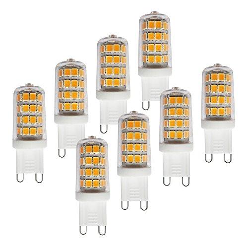 MÜLLER-LICHT 400306_Set A++, 8er-Set LED Lampe Hochvolt - Stiftsockel ersetzt 29 W, Plastik, 3 W, G9, weiß, 1.7 x 1.7 x 4.9 cm