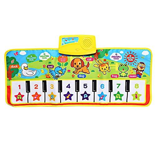 CVBN Juguete electrónico Educativo de la Alfombra del Juego de la Alfombra de la música del Piano Musical inglés de los niños, Multicolor
