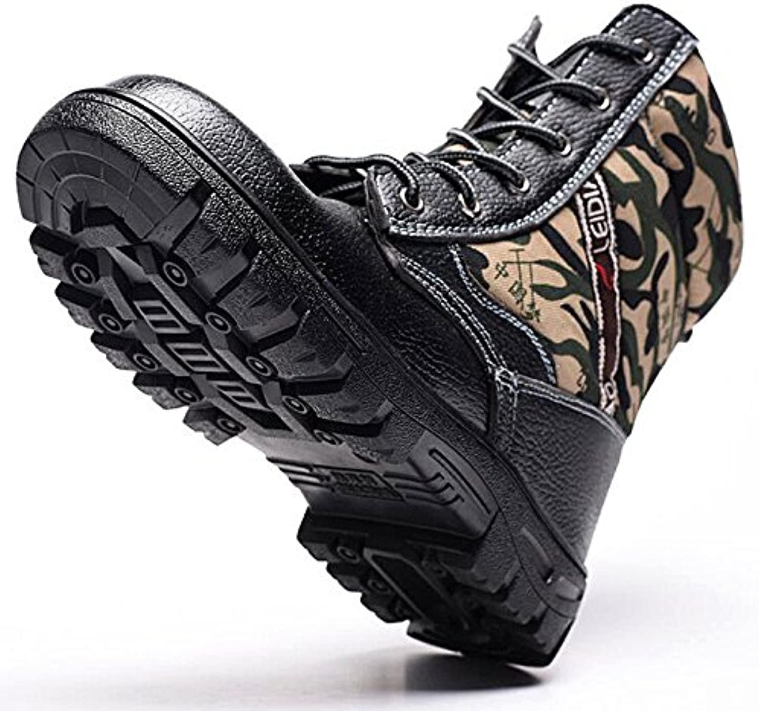 ShopSquare64 Winter Mens Camouflage Steel Toe Fur Lined Work Ankle Boots Labor Safety shoes