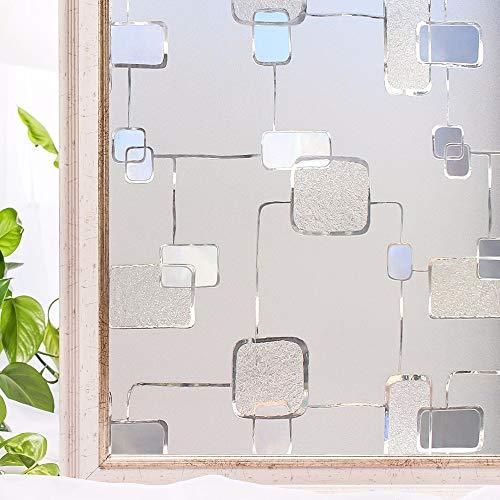 LMKJ Película de Cubierta autoadhesiva para Ventana de casa Antiadherente 3D decoración estática Pegatina de Vidrio para Ventana de privacidad Z96 50x100cm