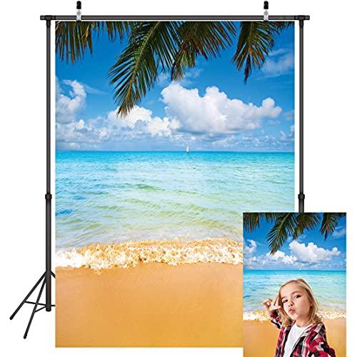 LYWYGG 5x7FT Fotografía de Vinilo Fondo Hermosfui Nubes Azul Mar Dorado Playas Fantasy Fondos sin Costuras Bebé Niños Cumpleaños Fondo Foto Estudio Props CP-42