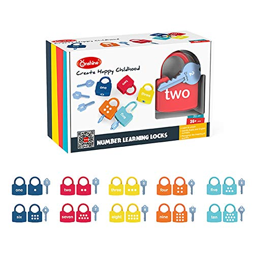 Willcome Kids Learning Locks with Keys Numbers Matching & Counting