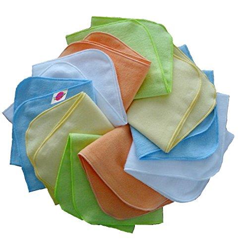 Babymajawelt® 14658 molleton flanelle gant de toilette 25/25 – Lot de 10 jeunes Multicolore