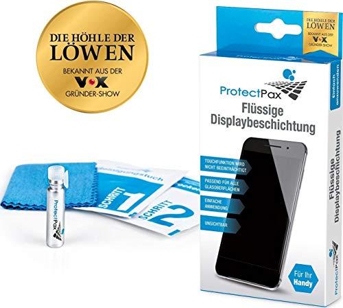 ProtectPax Flüssiger Displayschutz aus die Höhle der Löwen für alle Apple Samsung Sony Huawei LG Smartphones iPhone Nano Versiegelung Schutzfolie Displayschutzfolie