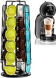 MeelioCafe Soporte para cápsulas de café, compatible con cápsulas Dolce Gusto, Home Treats Dolce Gusto Pod Holder de 24 cápsulas, soporte giratorio para cápsulas de café